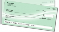 Green Swoosh Side Tear Personal Checks