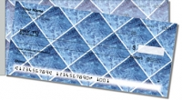 Blue Marble Tile Side Tear Personal Checks