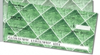 Green Marble Tile Side Tear Personal Checks