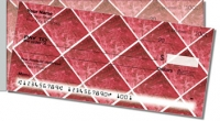 Red Marble Tile Side Tear Personal Checks