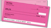 Pink Houndstooth Side Tear Personal Checks