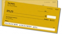 Yellow Houndstooth Side Tear Personal Checks