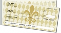 Classic Fleur de Lis Side Tear Personal Checks