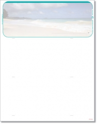Beach Scene Blank Check Stock