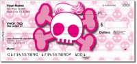 Stylish Skull Personal Checks