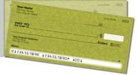 Green Topographic Side Tear Personal Checks