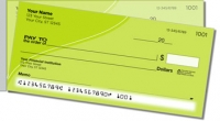 Green Curve Side Tear Personal Checks