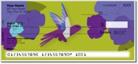 Colorful Hummingbird Personal Checks