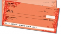 Red Corner Scroll Side Tear Personal Checks