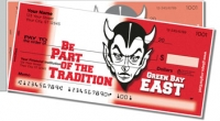 Green Bay East Athletic Side Tear Personal Checks