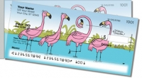 Scrivan Flamingos Side Tear Personal Checks
