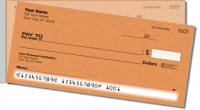 Orange Stipple Side Tear Personal Checks