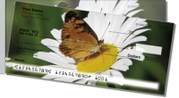 Butterfly Garden Side Tear Personal Checks