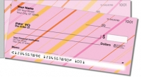 Colorful Pinstripe Side Tear Personal Checks