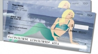 Lovely Mermaid Side Tear Personal Checks