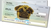 Dog Painting Side Tear Personal Checks
