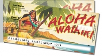 Hawaiian Art Side Tear Personal Checks