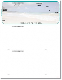 Beach Scene Top QuickBooks & Quicken Checks