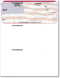 American Flag Top QuickBooks & Quicken Checks