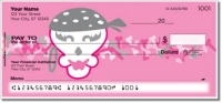 Girly Skull Personal Checks