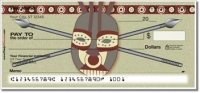 African Tribal Mask Personal Checks