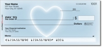 Glowing Heart Personal Checks