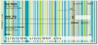 Vertical Stripe Personal Checks