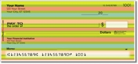 Horizontal Stripe Personal Checks