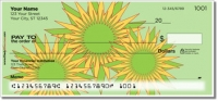 Retro Sunflower Personal Checks