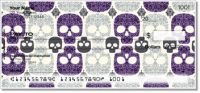 Damask Skull Personal Checks