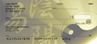 Stylistic Yin Yang Personal Checks