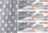 American Flag Multi Purpose Designer Business Checks