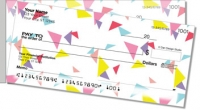 Chevron Geometrics Side Tear Personal Checks