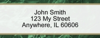 Green Marble Rectangle Address Label Accessories