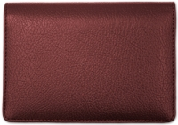 Burgundy Leather Top Stub Cover