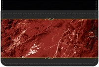 Burgundy Marble Debit Wallet