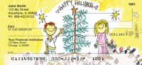 Happy Holidays: Tree by Amy S. Petrik Personal Checks