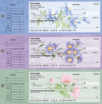 American Wildflowers Desk Set Checks - 1 Box