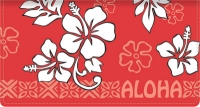 Aloha Leather Side Tear Style Checkbook Cover Accessories
