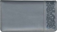 Premium Gray Leather Side Tear Style Checkbook Cover Accessories