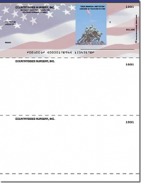 Stars & Stripes Laser Checks Check on Top - 1 Box