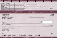 Burgundy Marble Top Stub Personal Checks