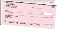 Pink Safety Side Tear Personal Checks