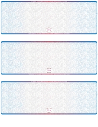 Blue Red Blank High Security 3 Per Page Laser Checks