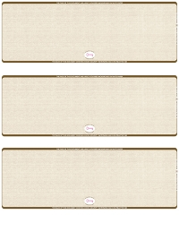 Tan Safety Blank High Security 3 Per Page Laser Checks