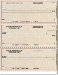 Parchment Laser Checks Lined No Voucher - 1 Box