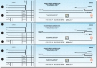 Securiguard Premium Classic Blue General 3-on-a-Page Checks - 1 Box