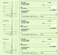 Deskset Style 2 Green Safety Personal Checks