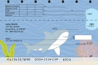 Happy Shark Top Stub Personal Checks