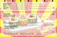 Sushi Time! Top Stub Personal Checks